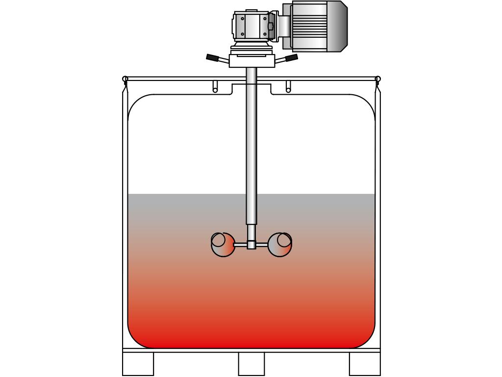 Container-Aufschraub-Rührwerk VJ300