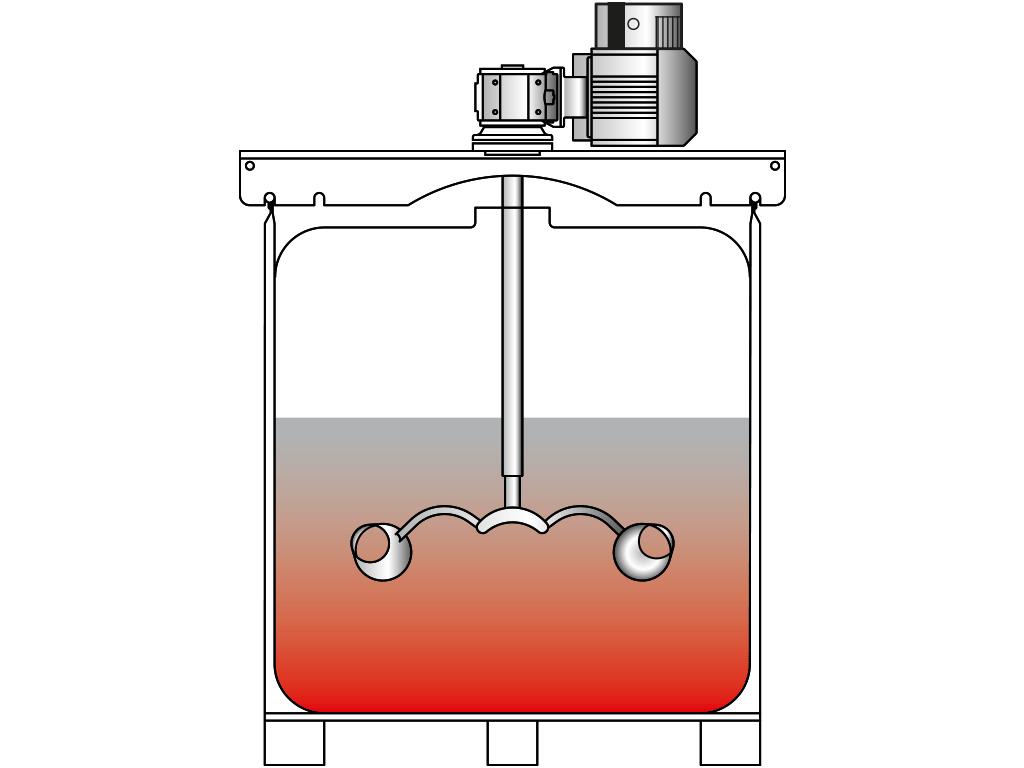 Container-Aufsatz-Rührwerk VJ350